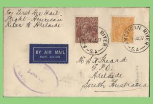 Australia 1937 First Flight cover, American River to Adelaide