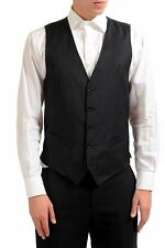 Dolce & Gabbana Hombre 100% Lana con Botones Vestido Negro Camiseta US S It