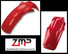 NEW HONDA 84 - 85 XR 200R RED PLASTIC FRONT AND REAR MOTORCYCLE FENDER SET