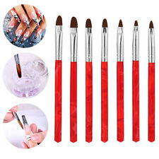 7pcs/set UV Gel Nail Art Brush Polish Drawing Painting Pen Kit Manicure DIY T