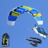 2m Sports Beach Kite For Beginner Power Dual Line Stunt Parafoil Parachute
