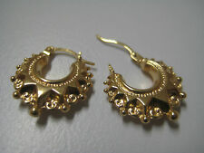 Victorian hoop earrings 9 carat yellow gold small