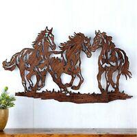 """Horse Rustic Metal Hanging Wall Art Sculpture Western Indoor/Outdoor Decor 21""""L"""
