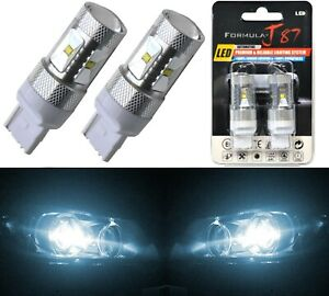 LED Light 30W 7440 White 6000K Two Bulbs Front Turn Signal Replacement OE