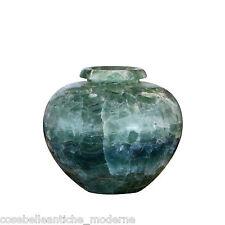 Centerpiece Vase in Green Fluorite Verde Vaso Arredo CLASSIC HOME DESIGN