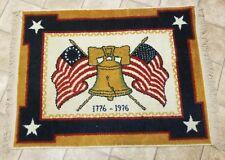 Vintage Bicentennial Freedom Rug Liberty Bell Rare man cave Lodge