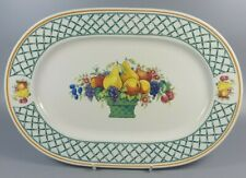 VILLEROY AND BOCH BASKET OVAL SERVING PLATTER / MEAT PLATE (PERFECT)