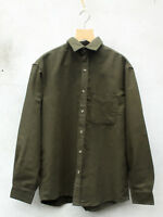 Deep Olive Green Moleskin Country Shirt by Tails and the Unexpected