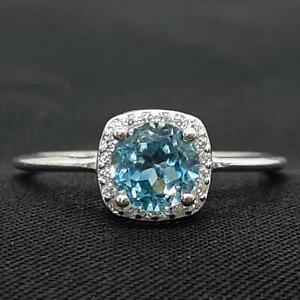 World Class 1.10ctw London Blue Topaz & Diamond Cut White Sapphire 925 Ring SZ 8