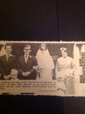 A2-3 Ephemera 1969 Picture Wedding Nina Maxted Margate Keith Barbara Garlinge