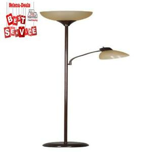 Mainstays 72'' Combo Floor Lamp with Adjustable Reading Lamp Side lamp