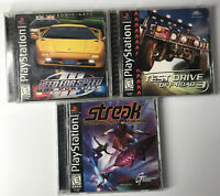 Lot of 3 PS1 Playstation 1 Mix Games w/ Manuals TESTED Streak, NFS3, Test Drive3