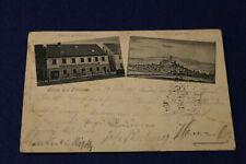 AKN156: Gruß aus Pleistein Gasthof goldenes Kreuz gelaufen 1905