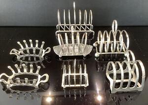 Job Lot Vintage Silver Plated Toast Racks X 7