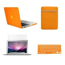 """4 in1 Rubberied ORANGE Case for Macbook PRO 15"""" + Key Cover + LCD Screen+ Bag"""