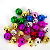 Jingle Bells,  Mixed,Gold,Silver, Red,Green  Charms Card Craft, 50 pack 10mm