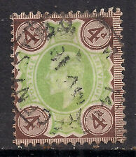 GB 1902 - 10 KEV11 4d Brown & Green Jubilee.(L703 )