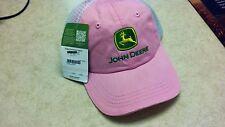 Pink John Deere Hat With White Mesh Backing LP43120