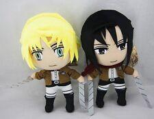 2pcs Attack On Titan Shingeki No Kyojin Mikasa & Armin  Plush Doll 12 Inch