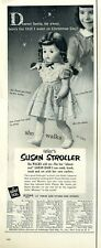 """1953 EEGEE PRINT AD Character Doll """"Susan Stroller"""" Doll detailed vintage"""