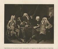 ANTIQUE CORNELIUS TROOST SACRED COLLEGE COLLEGIUM MEDICUM AMSTERDAM OLD PRINT
