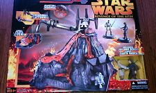 Star Wars Revenge Of The Sith Mustafar Final Duel Playset W/ Anakin & Obi Wan