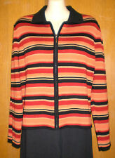 MultiColor Cropped Zip Front Sweater/Jacket-World Republic Clothing Co-Lrg