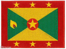 "Grenada (embroidered) Country Flag Patch 4 3/4""x 3 1/2"" (12 x 9CM) approx"