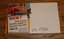 1946 Ford Truck Full Line Foldout Sales Brochure 46 Pickup Stake Light Heavy