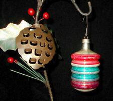 "Ant. German Mercury Glass Lantern Christmas Ornament~3 3/8"" H"