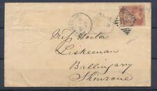 1865 Angleterre Enveloppe avec tp GB N°26 obl DUBLIN ET SHINRONE P4505