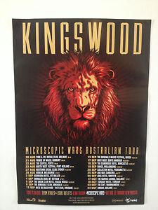 KINGSWOOD Microscopic Wars 2014 Australian Tour Poster A2 Suckerpunch ***NEW***