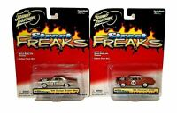 Johnny Lightning Street Freaks Spoilers 69 Dodge Super Bee and 64 Pontiac GTO