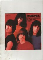 "RAMONES Rock n Roll Radio FRENCH 7"" w/PS PUNK ROCK"