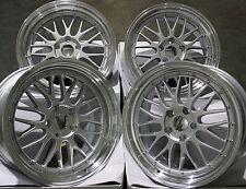 "18 ""Silver LM Ruote in Lega Adatta BMW 1 Serie Mini Countryman Paceman JCW 5x120"