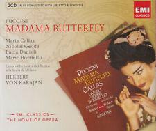 MARIA CALLAS - MADAMA BUTTERFLY - PUCCINI - KARAJAN - EMI 2 CD +BONUS CD -NUOVO