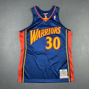 100% Authentic Stephen Curry Mitchell Ness 09 10 Warriors Jersey Size 44 L