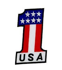 Bandiera patch toppe toppe ricamata americano usa biker moto #1