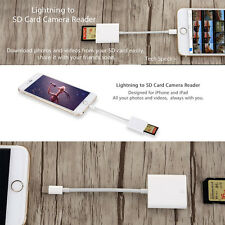 Lightning to SD Card Camera Reader Cable Adapter for iPhone iPad Air Pro Mini 12