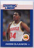 1988  AKEEM OLAJUWON - Kenner Starting Lineup Card - HOUSTON ROCKETS