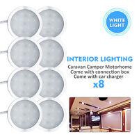 8x 12V Camper Interior LED Spot Lights+ Car Charger Caravan Boat Motorhome light