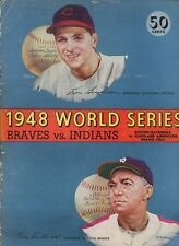 1948 World Series Program Cleveland Indians at Boston Braves