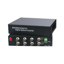 1 Pair 8 Channel Fc 1080P Cvi/Ahd/Tvi Coaxial Video Media Converter With Rs485