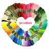 50 x Embroidery Thread Cotton Cross Stitch/Braiding/Skeins Craft Sewing Colours