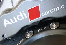 AUDI CERAMICA Premium FRENO PINZA FRENO Decalcomanie Adesivi RS4 RS5 RS6 RS7 R8 opzione Tutti