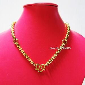 """NECKLACE 3 HOOKs STAINLESS with GOLD Color 26""""Length for Hang Amulet Buddha"""