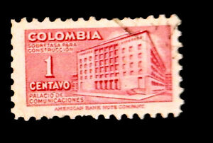 Colombia stamp1948 /Tax Stamp / Ministry of Posts & Telegraph  /  Used