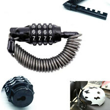 Anti-theft Helmet Lock 4 Digit Password Motorcycles Cycling Portable Cable Lock