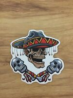 """Mexican Skull Sticker 3"""" Inches"""