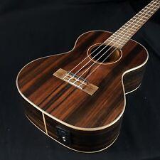 Kala KA-EBY-TE Acoustic Electric Striped Ebony Tenor Ukulele